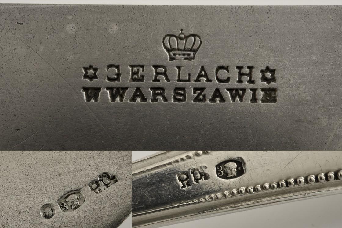 Neoklasycystyczny 12-osobowy zestaw sztućców w kantynie, Warszawa, 1921-1931